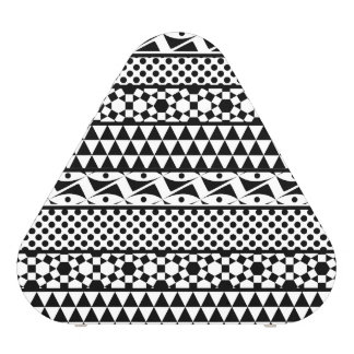 Black White Geometric Aztec Tribal Print Pattern Speaker