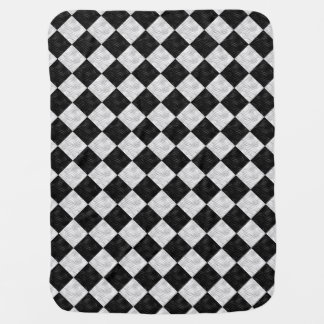 Black White Geometric Chec Diamonds - Baby Blanket