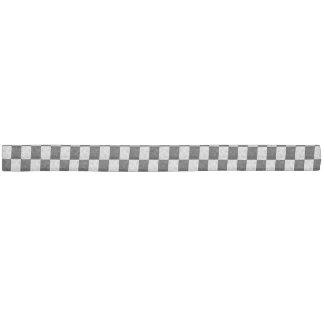 Black & White Geometric Checker Squares - Headband Elastic Hair Tie