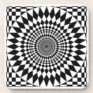 Black & White  Geometric Circle Design  coasters