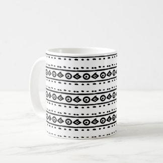 Black & White Geometric Pattern Mug