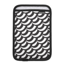Black & White Geometric Pattern Sleeve For iPad Mini