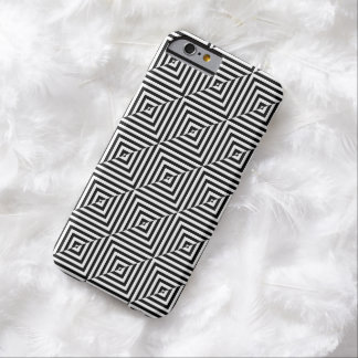 Black White Geometric Reversed Diamonds Barely There iPhone 6 Case