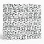 Black & White Geometric Squares 3 Ring Binder