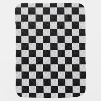 Black & White Geometric squares - Baby Blanket