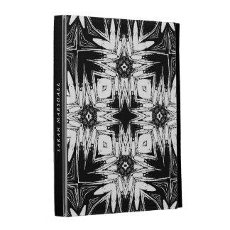 Black White Geometric Tribal Batik iPad Folio Case