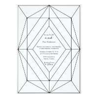 Black & white geometric Wedding Invitation