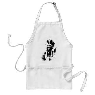Black & White Geronimo Adult Apron