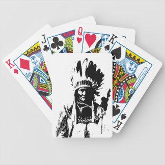Black & White Geronimo Bicycle Playing Cards