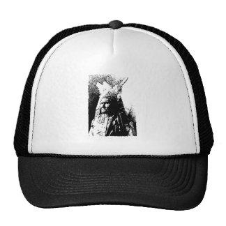 Black & White Geronimo Hat