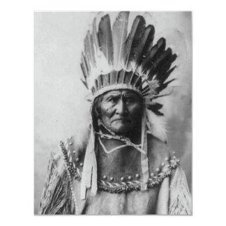Black & White Geronimo Invitation