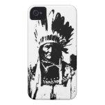Black & White Geronimo iPhone 4 Case-Mate Case