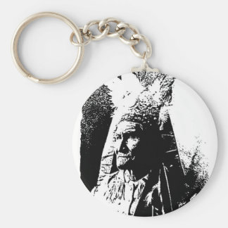 Black & White Geronimo Keychain