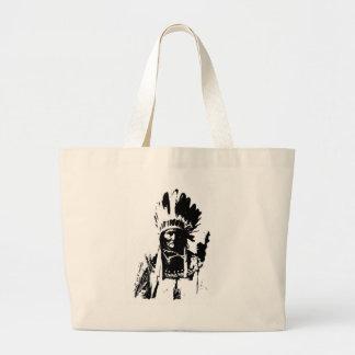 Black & White Geronimo Large Tote Bag