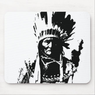 Black & White Geronimo Mouse Pad