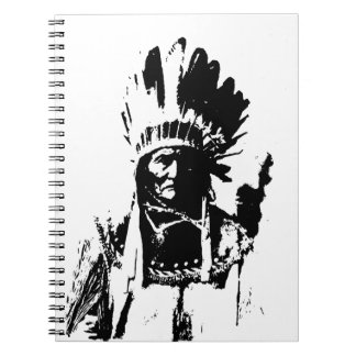Black & White Geronimo Spiral Note Book