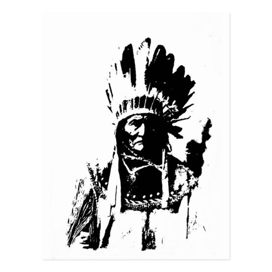 Black & White Geronimo Postcard