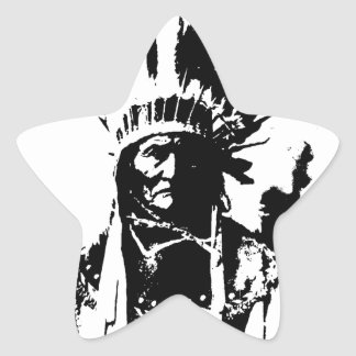 Black & White Geronimo Star Sticker