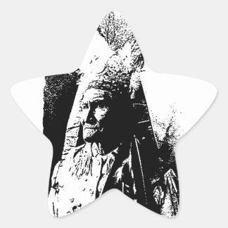 Black & White Geronimo Star Stickers