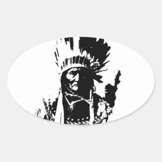 Black & White Geronimo Sticker
