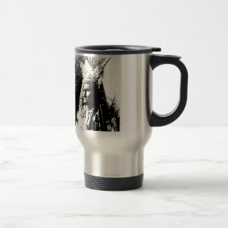 Black & White Geronimo Travel Mug