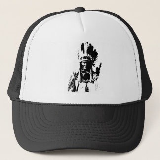 Black & White Geronimo Trucker Hat