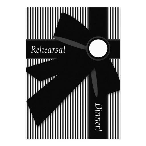 Black & White Gift Rehearsal Dinner Invitations