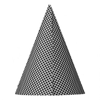 Black-White Gingham-PAPER PARTY HATS
