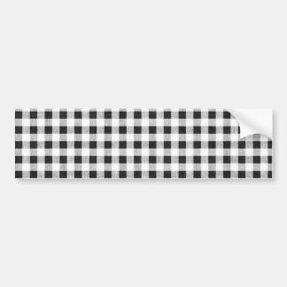 Black White Gingham Pattern Bumper Stickers