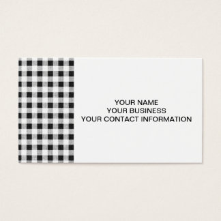 Black White Gingham Pattern Business Card