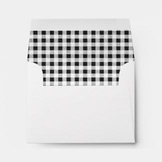 Black White Gingham Pattern Envelope