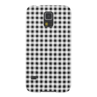 Black White Gingham Pattern Galaxy S5 Case
