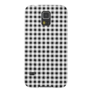 Black White Gingham Pattern Galaxy S5 Case