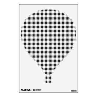 Black White Gingham Pattern Wall Decal