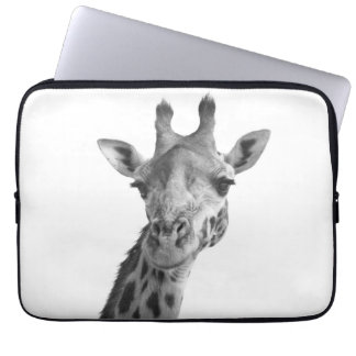 Black & White Giraffe Computer Sleeve