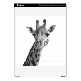 Black & White Giraffe Decals For The PS3 Slim