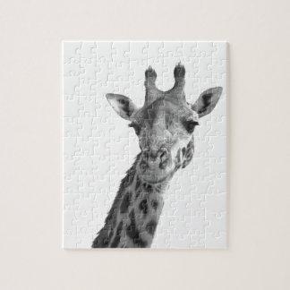 Black & White Giraffe Jigsaw Puzzle