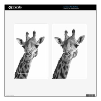 Black & White Giraffe Kindle Fire Skin