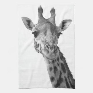 Black & White Giraffe Kitchen Towel