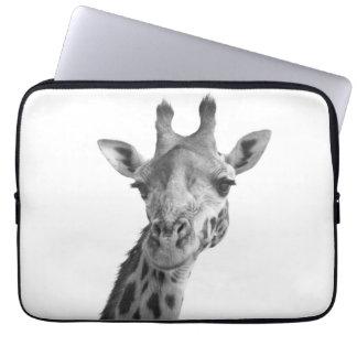 Black & White Giraffe Laptop Sleeves