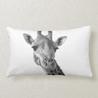 Black & White Giraffe Lumbar Pillow