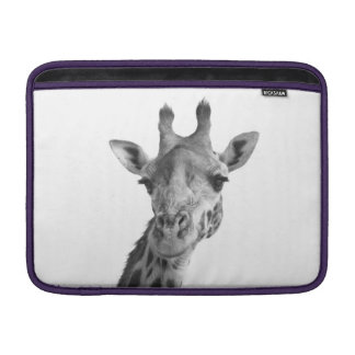 Black & White Giraffe MacBook Sleeve