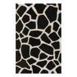 Black & White Giraffe Print Stationery