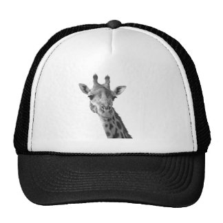 Black & White Giraffe Trucker Hat