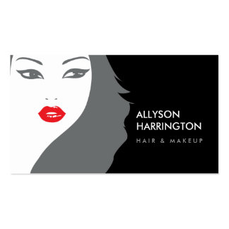 BLACK & WHITE GIRL - BEAUTY FASHION STYLE No. 3 Double-Sided Standard Business Cards (Pack Of 100)