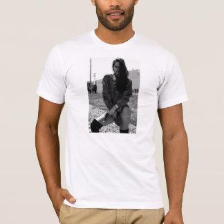 black & white girl on a shirt