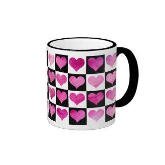 Black & White Girly Hearts Mug