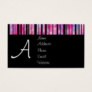 Black & White Girly Lines Business Card