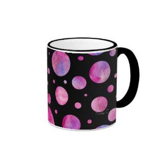 Black & White Girly Polka Dot Mug