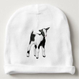 Black White Goat Kid Baby Hat